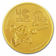 2020 Niue 1 Oz Gold 250 Pac-manandtrade 40th Anniversary Coin