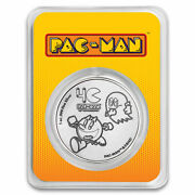 2020 Niue 1 Oz Silver 2 Pac-manandtrade 40th Anniversary Coin In Tep