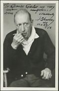 Igor Stravinsky Signed Photograph - My Very Best New Year's Wishes Composer