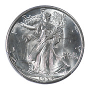 1934-d Walking Liberty Half Dollar Pcgs And Cac Certified Ms64+