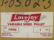 Lovejoy 11903 1 Bore Spring Loaded Variable Speed Pulley Nib