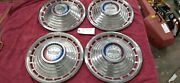 Vintage 1963 Ford Galaxie 500 14 Hubcaps Wheel Cover Set Of 4 Hot Rod Rat Rod