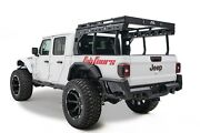 Fab Fours Black Expandable Steel Overland Rack For 2020 Jeep Gladiator