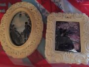 Two Antique Silhouette Pictures With Beautiful Unusual Frames