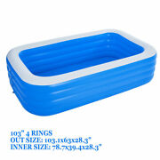 103 X 63 Spas For Adult Swimming Pool Thick Material Inflatable Garden Pool