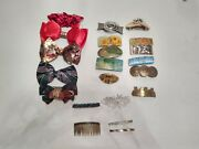Vintage Lot Of 21 Hair Clips 6 Are Made In France Impressionism Print