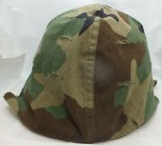 Wwii / Korean War M1 Military Helmet With Liner And Camouflage - Rx971