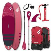 Fanatic Diamant Air 10.4 Stand Up Paddle Planche Sup Surf-board Set Charbon