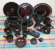 Vintage Avon 1876 Cape Cod Ruby Red Glassware By The Pieces