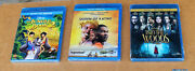 Disney Blu-ray + Dvd Lot The Jungle Book 2, Queen Of Katwe, Into The Woods