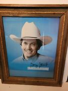 George Strait 21x25 Signed Hat Collection Picture 1980s Framed