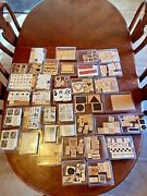 262 Wood Stampin' Up Rubber Stamps Kids Huge Lot New Used Excellent