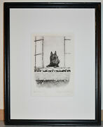 Listed American Artist Marguerite Kirmse, Signed Original Etching 'good Morning