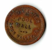 Leo Wagner Pool Hall Rock Valley Iowa Good For 5 Cent In Trade