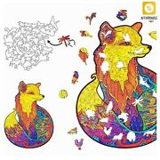 Wooden Puzzles Jigsaw Fox Board Set Toy Educational Games Toys For Adults Kids