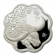 2021 Canada Silver 15 Lunar Lotus Year Of The Ox Proof - Sku218951