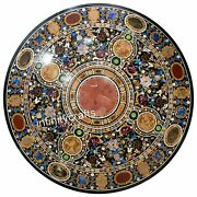 50 Inches Round Table Top Marble Coffee Table Inlay Art Elegant Christmas Gift