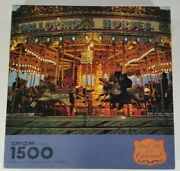 """Springbok Puzzle """"meet Me At The Carousel"""" 1500 Pieces Complete"""