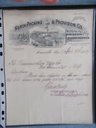 1897 Antique Signed Document North Packing Somerville Ma G.f. And E.c. Swift