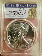 1989 Thomas Cleveland Native Mint State Silver Eagle Pcgs Ms70 Pop Of 2