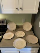 6 Natura By Noble Excellence Tan Swirl Salad Plates