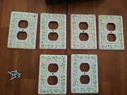 Vintage Ceramic Wall And Light Switch Plates 11 Total