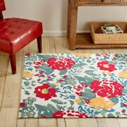 New Pioneer Woman Country Garden Rug - 4and039 X 6and039 - Kitchen Floral Hard To Find