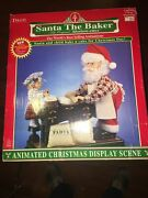 Telco Santa The Baker Motion-ettes 1996 Christmas Animated Tested W/box