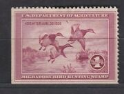 United States Duck Hunting Stamp 1935 Rw2 Void After June 1936 Mng Hr