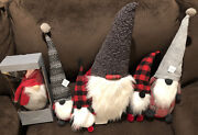 Potterybarn Holiday Christmas Gnomes Set Of 6 Large Clarke Gnome Tree Topper New