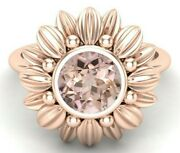 1.80 Ct Aaa Peach Morganite Solitaire Ring Engagement Ring Sunflower Ring