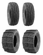 Quadboss Utv Sxs Sand Dune Front And Rear Paddle Tires Qbt346 30x11-14 And 30x14-14