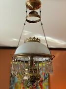 6 Different Outstanding Brass Antique Victorian Light Fixtures Perfect Condition