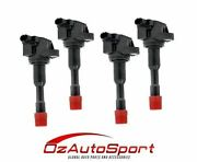 4 X Ignition Coil For Honda Civic Hybrid Jazz 1.3l - Exhaust Side