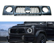 Mb G-wagon W463a G63 Matte Carbon Front Grille Headlight Covers Set