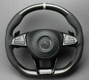 Mb W213 E Class Steering Wheel Carbon Perforated Leather Grey Stripe