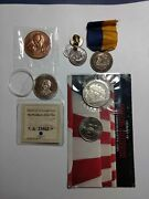 Lot Of 6 Coins Medals So-called Dollar Etc.