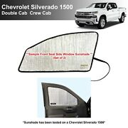 Side Front Row Shades For 2019-2021 Chevrolet Silverado 1500 Doublecrew Cab 4dr