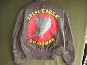 Wwii Style Cooper A-2 Painted Leather Flight Jacket Eagle Squadron Size 44 L