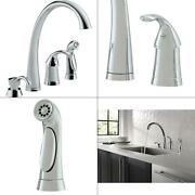 Pilar Waterfall Single-handle Standard Kitchen Faucet With Side Sprayer And So