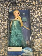 New Elsa Classic Doll With Ring - Frozen - 11 1/2and039and039 Disney Store