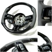 Ford Mustang 2015-2020 Gt Gt500 Style Shelby Steering Wheel Carbon Fiber Leather