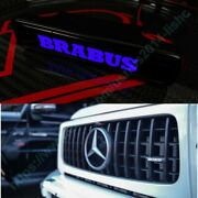 Mb G-wagon G63 G55 G500 W463a Abs Front Grille Badge Blue Led