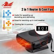 12v 150w Car Heater Portable Electric Heating Cooling Fan Defroster Demister Usa
