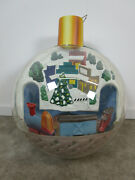 Vintage Department Store Display Giant Christmas Ornament With Train 22x18
