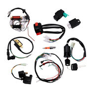 Cdi Wire Harness Stator Wiring Solenoid Kit Fit For 50cc-125cc Atv Quads