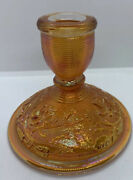 Carnival Glass - Luster Rose Marigold By Imperial Glass Ohio - Candle Holder