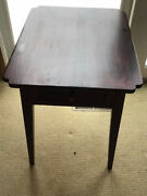 Ethan Allen Side Table Country Craftsman 1 Drawer Side End Table Cherry Finish