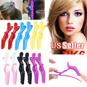 12pcs Salon Croc Hair Styling Clips-sectioning Alligator Hair Clip Claw Plastic