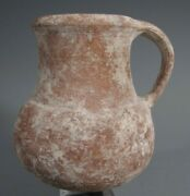 Nice Provincial Rome Roman Redware Pottery Handled Juglet Ca. 100-400ad